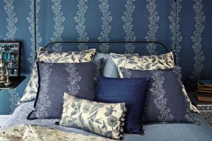 Sanderson The Aegean fabric collection ТКАНЬ Sparkle Coral Embroidery
