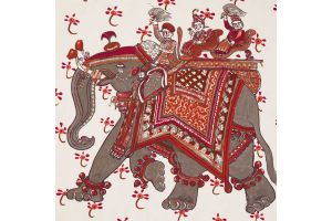 HERMES  ILLUSTRATIVE  COLLECTION  ТКАНЬ BELOVED INDIA