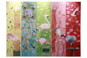 Voutsa  коллекция Hand-Painted-Wallpaper обои Garden of Earthly Delights
