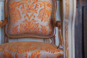 FORTUNY КОЛЛЕКЦИЯ  Colourismo 2012 ТКАНЬ Barberini in burnt apricot & silvery gold